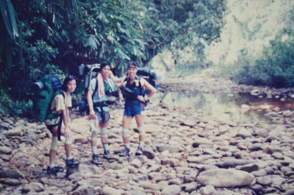 with Yong & Stanley after crossing a river