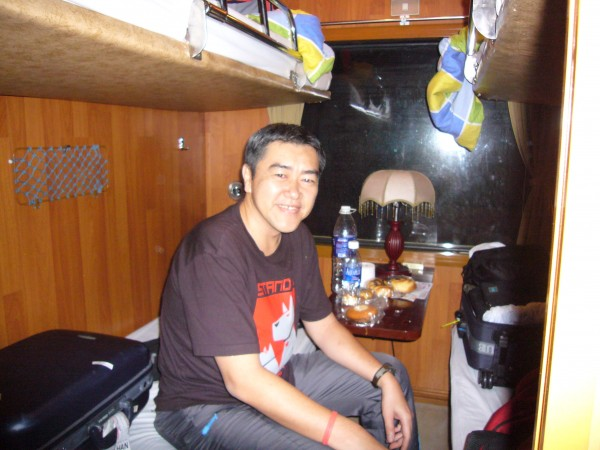 I was happy with the comfort of my cabin in the coach.