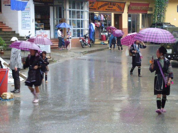 drizzle when we reached Sapa.