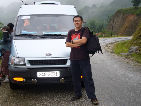 the mini van we took on this second day in Sapa...