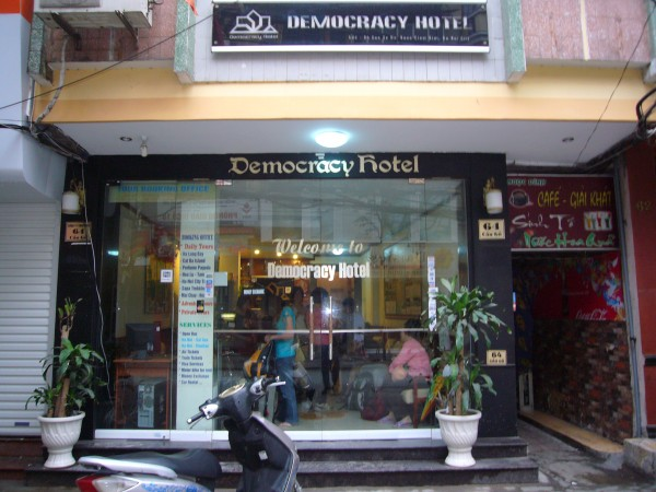 the hotel we stayed in Hanoi