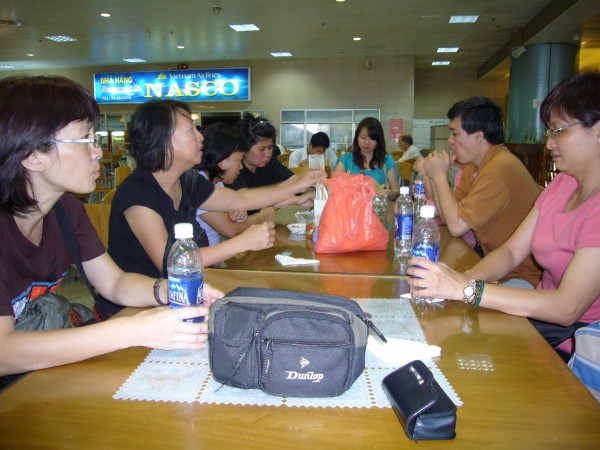 departure hall, waiting for our flight home. BYE Hanoi!