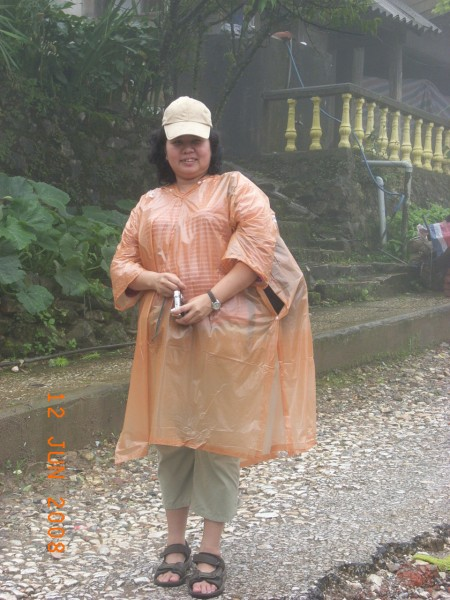 yin with her reliable raincoat.