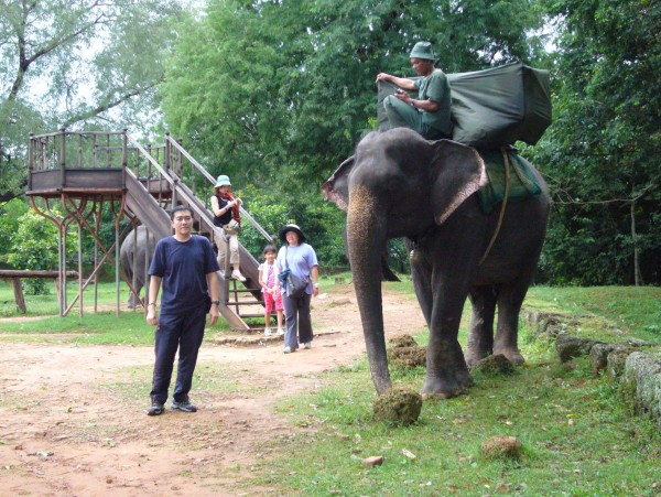 guess this is what the guide was saying - the elephant ride up the hill.