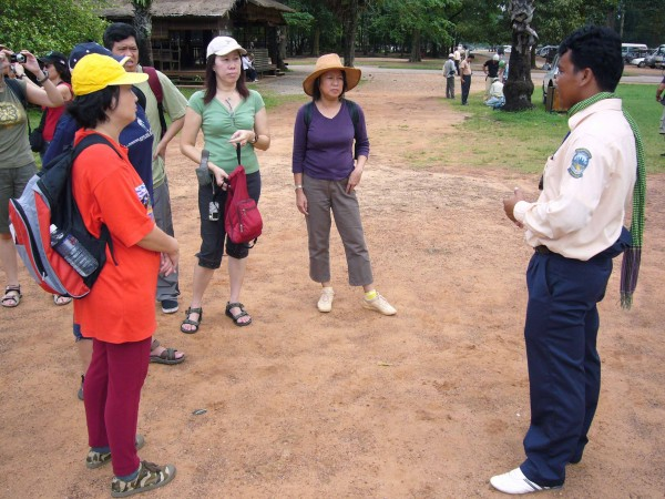 a short briefing from our guide.