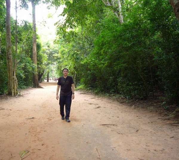 the path leading to Ta Prohm.