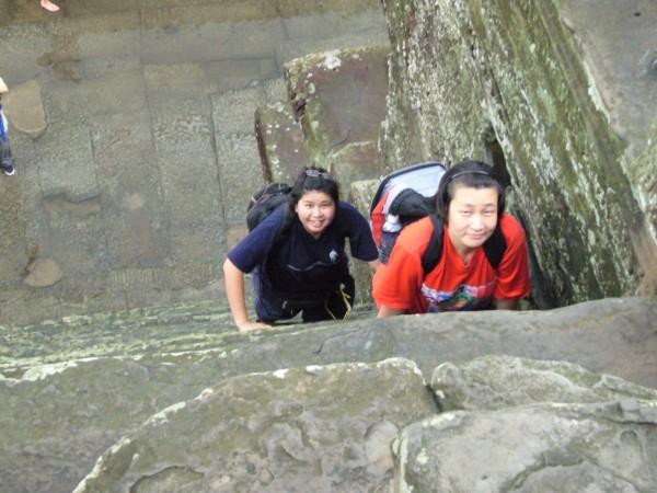 Yin & ST - the steep climb.