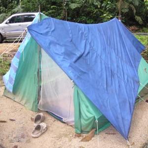 my 4 men tent.